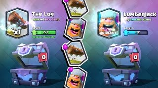 Clash Royale HUNTING FOR LOG & LUMBERJACK! Super Magical Chest Opening & Tournament Announcement