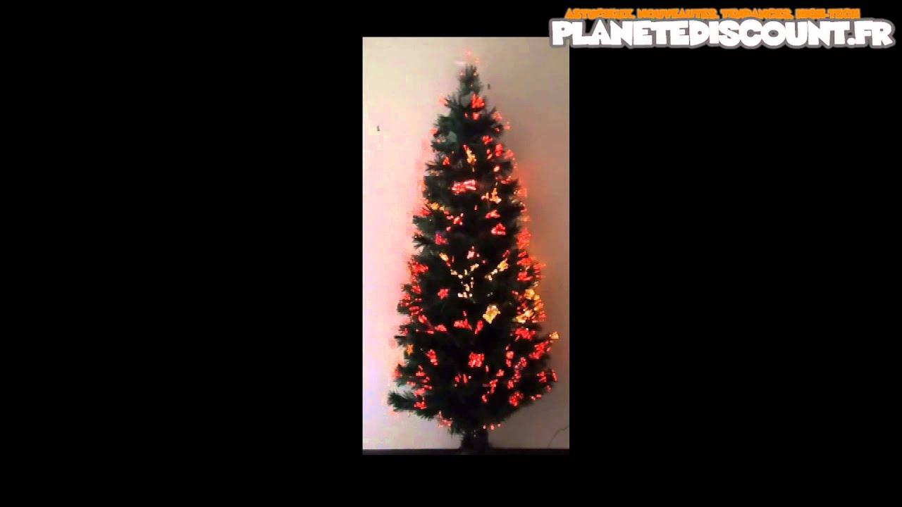 Sapin De Noël Fibre Optique Avec Décorations Et étoile 150 Cm