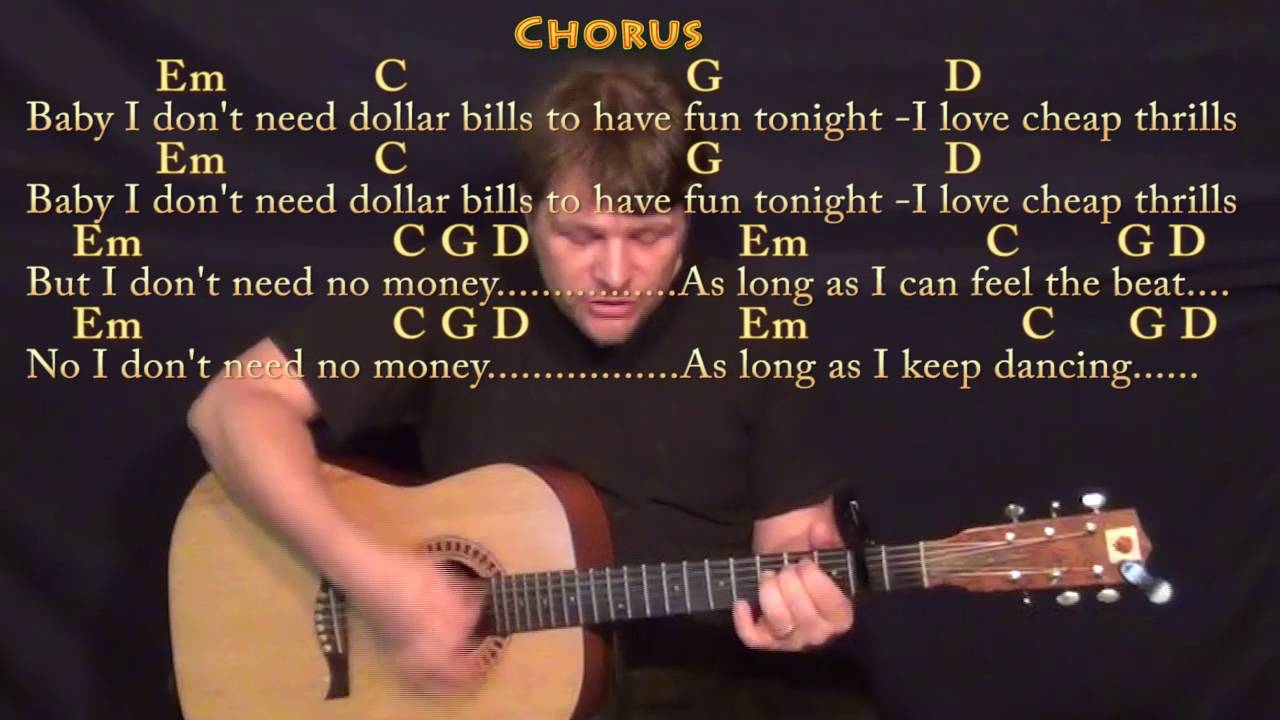 Cheap Thrills Sia Guitar Cover Lesson With Chords Lyrics Capo 2nd