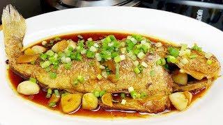 黃花魚這樣燒,配料簡單,味道香濃,很實用的壹道家常菜【我是馬小壞】