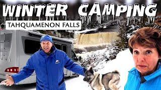 Winter RV Camping in Michigan's Upper Peninsula