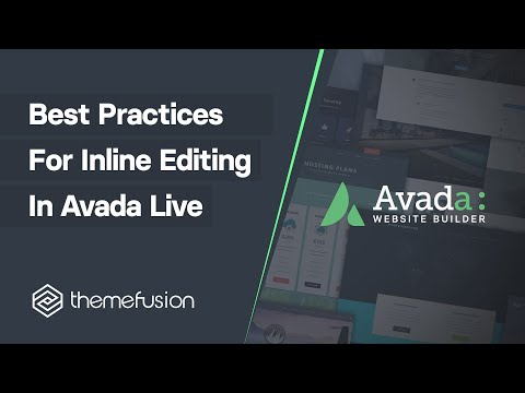 Best Practices For Inline Editing In Fusion Builder Live Video