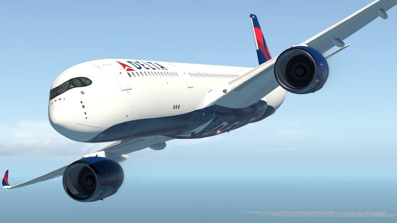 X-Plane 11 - Delta Flight 95 - Airbus A350 - Atlanta to Detroit