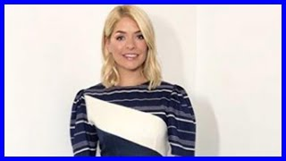 Holly Willoughby dress today: This Morning host wears £430 striped midi dress from designer