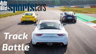 TRACK BATTLE: Alpine A110 S vs Porsche 718 Cayman vs Toyota GR Supra 3.0