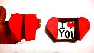 Origami: Carta y Sobre en forma de corazon ¡Facil de hacer!