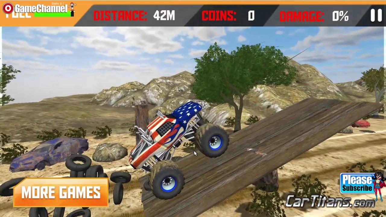 Patriot wheels monster truck 3d games race off road driven truck games games for children