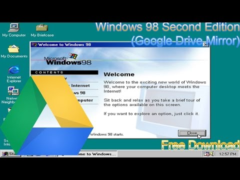 Download Windows 98 SE ISO (Google Drive + MEGA.CO.NZ Mirror) -UPDATED-