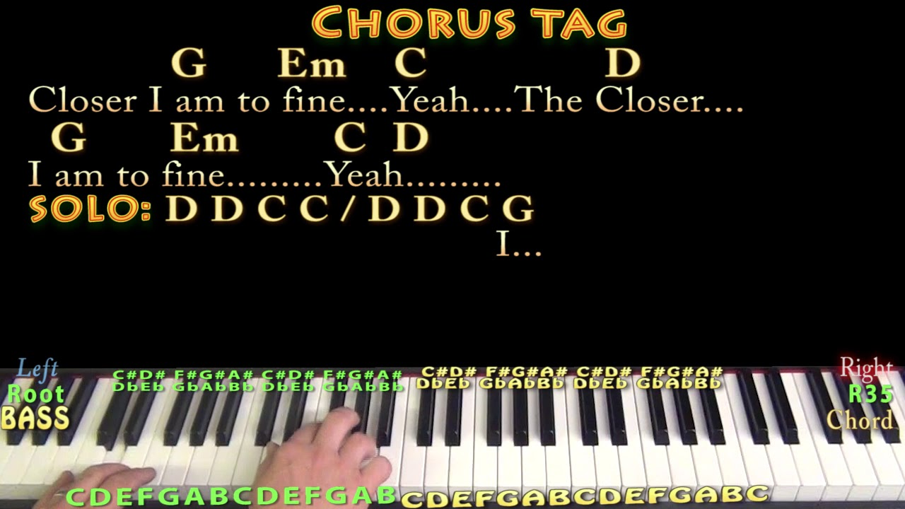 Closer to Fine Indigo Girls Piano Jamtrack in G with Chords/Lyrics    Arpeggios