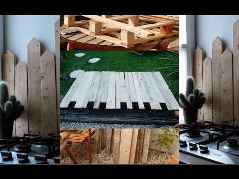 diy fabriquer une t te de lit et une protection anti projection en bois de palette youtube. Black Bedroom Furniture Sets. Home Design Ideas