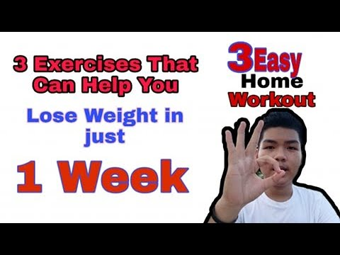 3 EASY HOME WORKOUTS TO HELP YOU LOSE WEIGHT IN JUST 1 WEEK!!!