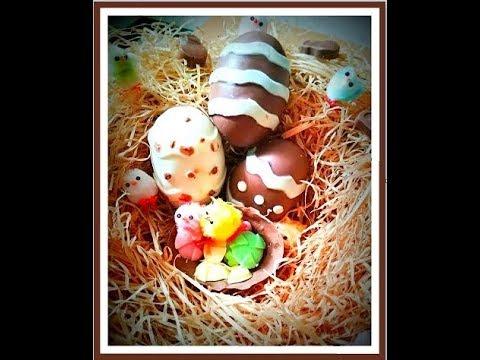 Easter Eggs | Pure Vegetarian Easter Eggs | How to make chocolate eggs | Homemade chocolate recipe