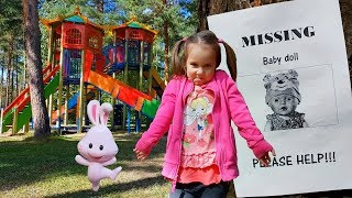 Funny video with toys and baby doll from Yulya Kroshka Ю