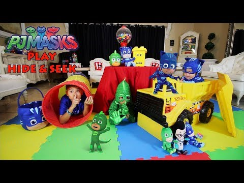 PJ MASKS | HIDE and SEEK in our HOUSE | DEION'S PLAYTIME