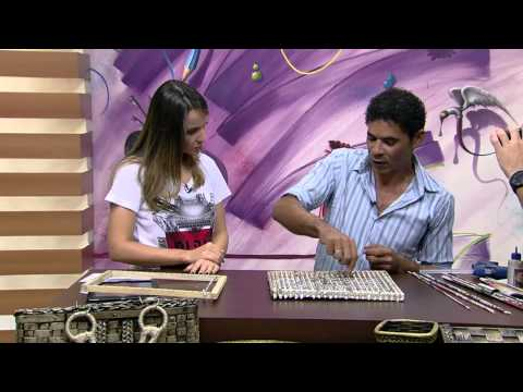 Mulher.com 19/03/2015 José Paulo Silva - Sousplat trançado de jornal Parte 1/2