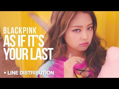 BLACKPINK - As If It's Your Last (마지막처럼) : Line Distribution (Color Coded)