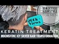 Platinum Blonde 2018 | BLACK to SNOW WHITE Hair Colour Transformation  | DP CREATIONS