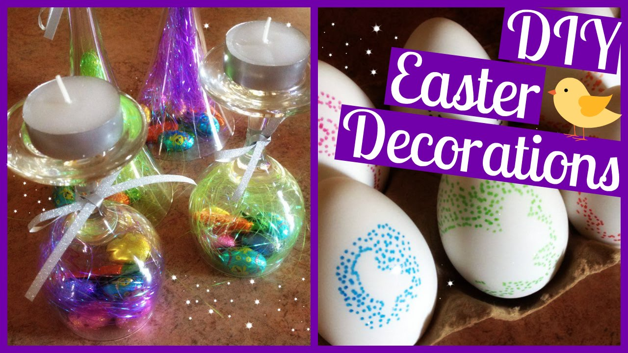 DIY Easter Decorations Ideas! Pinterest Inspired!