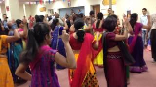 Navratri Garba famous Radha fun line dance Shiva Vishnu Temple,Cleveland Ohio