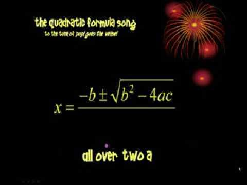 Quadratic Formula Song   Pop Goes the Weasel