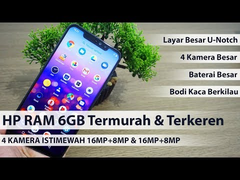 Hp Ram 6gb Dengan 4 Kamera Layar Lebar Baterai Besar Unboxing