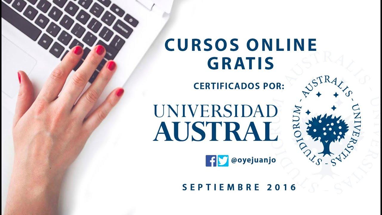 Registrarse En Los Cursos Online Gratis De La Universidad Austral Youtube