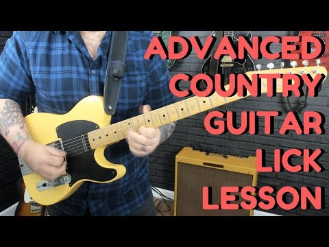 Advanced Country Guitar Lick Lesson - Outlining Chords And Position Shifting