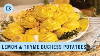 Greek Duchess Potatoes with Lemon & Thyme