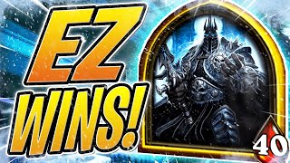 How To Get EZ WINS in BATTLEGROUNDS | The Lich King | Hearthstone Battlegrounds | HS Auto Battler