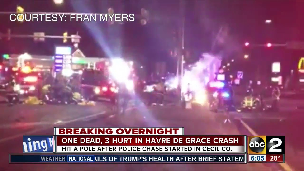 Car stolen in Baltimore crashes in Havre de Grace, driver