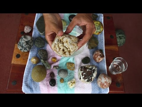 ASMR ✦ Showing Special Stones found at the Beach (binaural 3D)