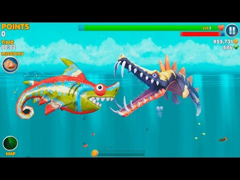 Hungry Shark Evolution Sharkeleon Android Gameplay #2