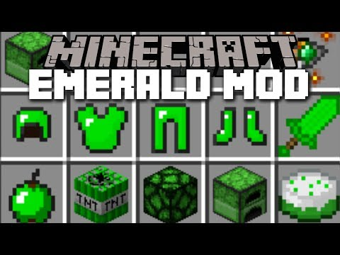Minecraft EMERALD MOD / FIGHT THE EMERALD GOLEM AND SURVIVE!! Minecraft
