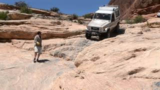 landcruiser bj74 down wipe out hill