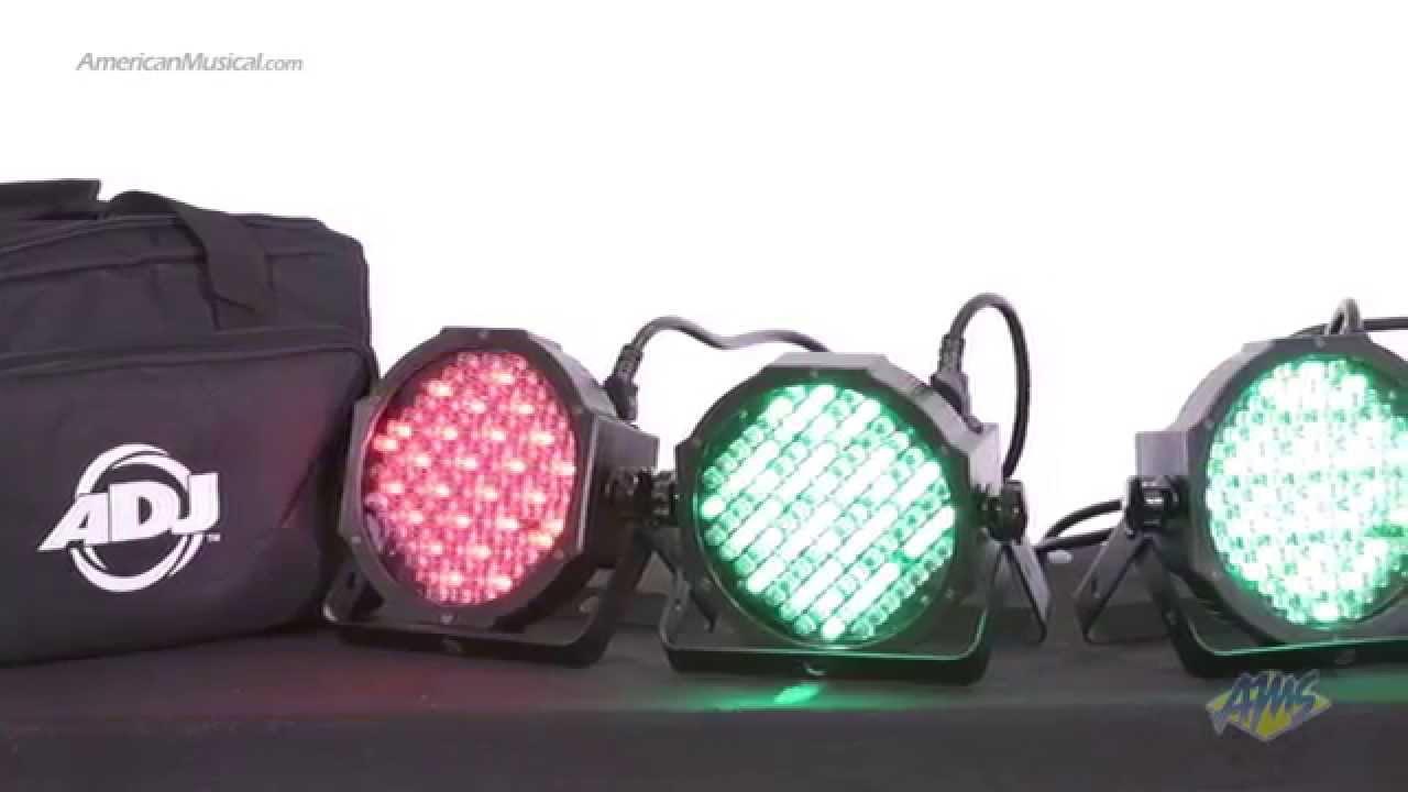 american dj mega flat pak lighting package adj mega par profile led