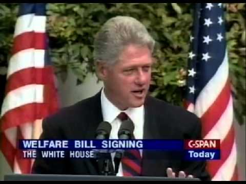 Clinton: It Is Clearly Better To Go To Work Than To Stay on Welfare