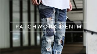 DIY Patchwork Denim Jeans