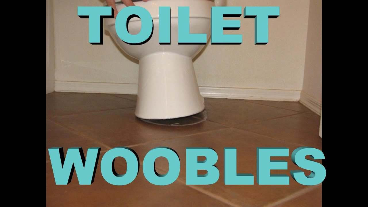 toilet loose & wobbles - EZ fix - YouTube