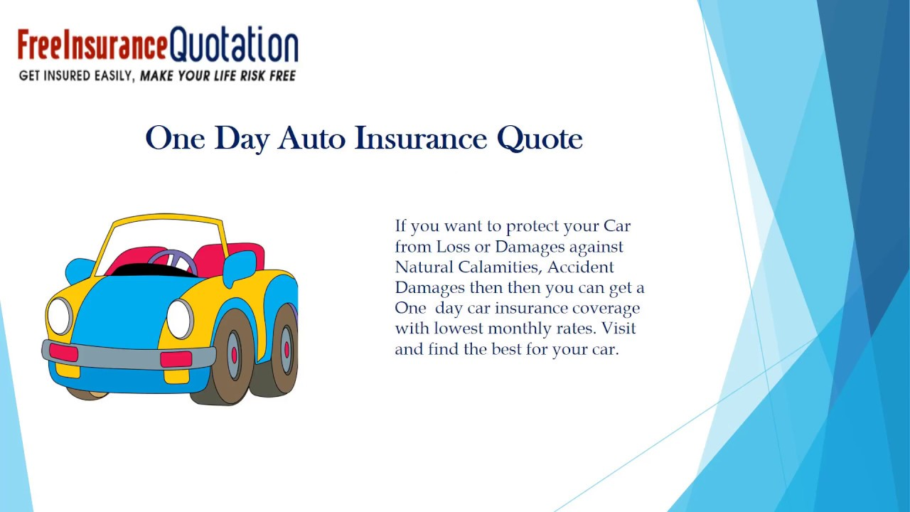 Get Cheap One Day Car Insurance Online From Different Companies
