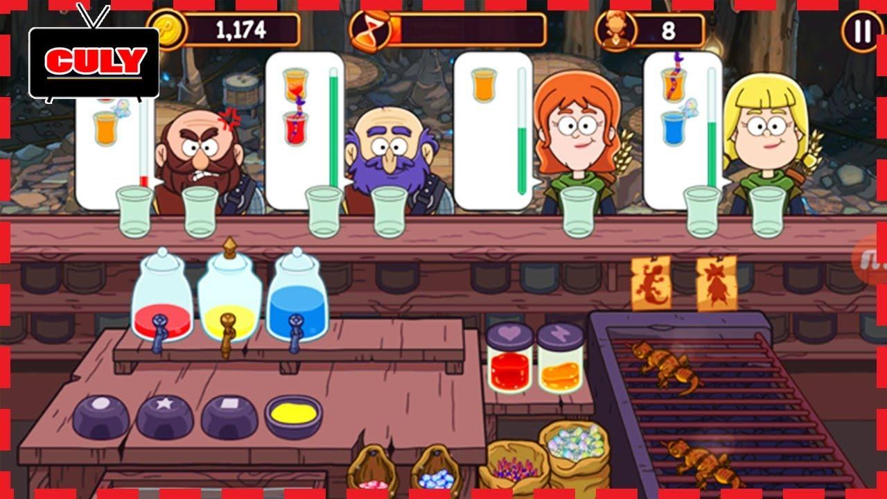 Trò chơi pha thuốc Potion Punch quán ăn vui nhộn cu lỳ chơi game lồng tiếng