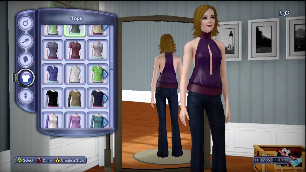 The Sims 3 Pets Xbox 360 In Depth Character Creation Female