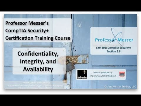 Understanding Confidentiality, Integrity, and Availability - CompTIA Security+ SY0-301: 2.8