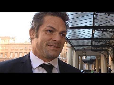 Richie McCaw visits the Queen