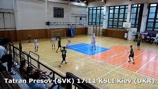 Handball. U17 boys. Sarius cup 2017. Tatran Presov (SVK) - KSLI Kiev (UKR) - 20:14 (2nd half)