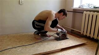 видео Как покрыть деревянный пол ДСП
