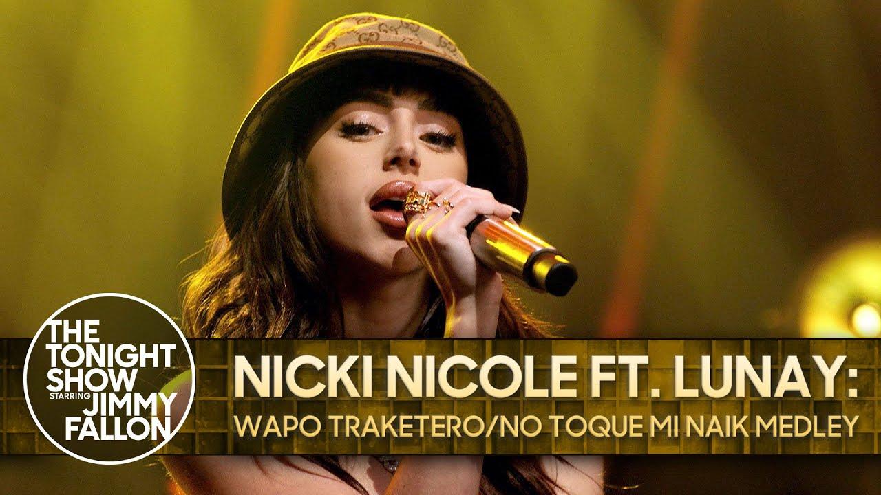 Nicki Nicole ft. Lunay: Wapo Traketero/No Toque Mi Naik Medley | The Tonight Show