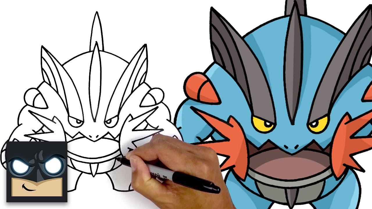How To Draw Mega Swampert | Pokemon