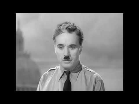 Величайшая речь Чарли Чаплина в сатирическом фильме \