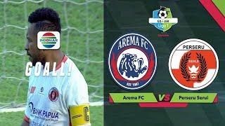 Gol Bunuh Diri Tonny Roy Ayomi - Arema FC (3) vs (0) Perseru Serui | Go-Jek Liga 1 Bersama Bukalapak