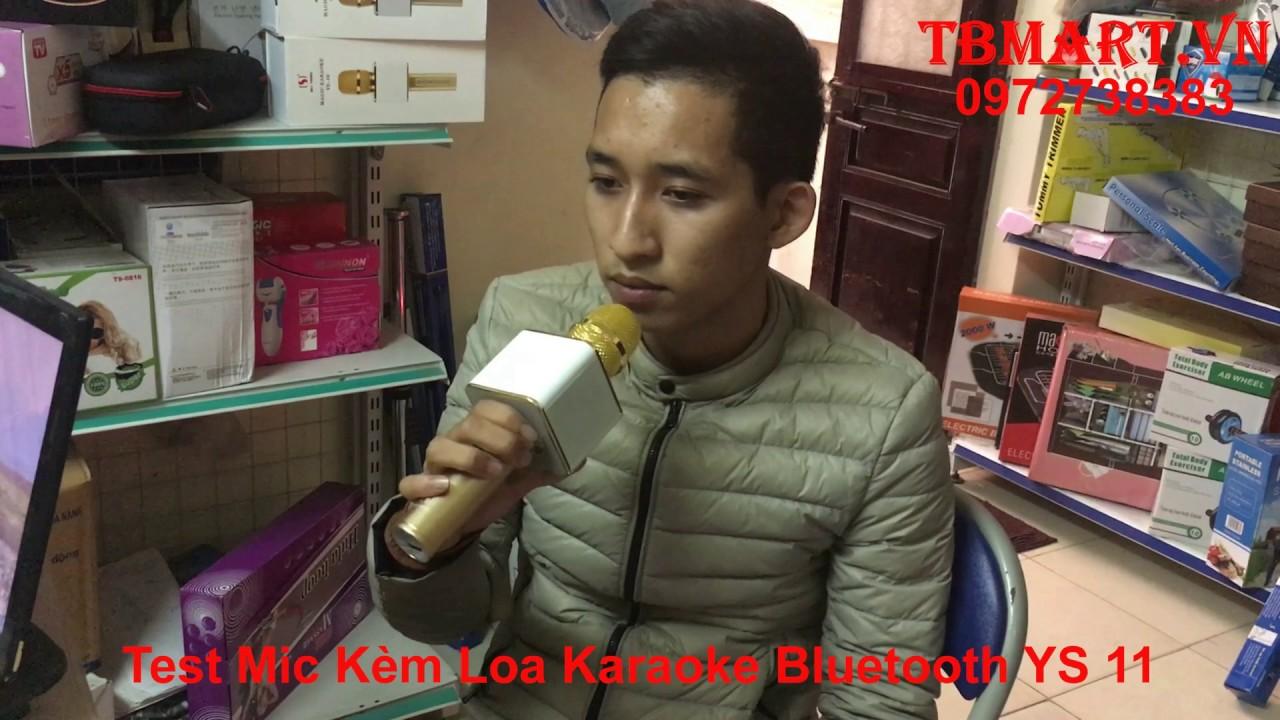 Mic YS 11 – Micro Kèm Loa YS 11 – Phía Sau Một Cô Gái – Mic Karaoke Bluetooth YS 11